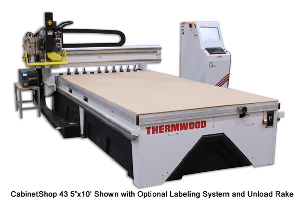 Thermwood CabinetShop 43 5'x10' with Optional Labeling System and Unload Rake