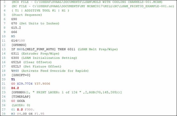 Automatically generates a CNC program ready to run on LSAM