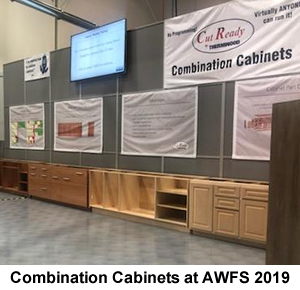 Combination Cabinets display at AWFS 2019