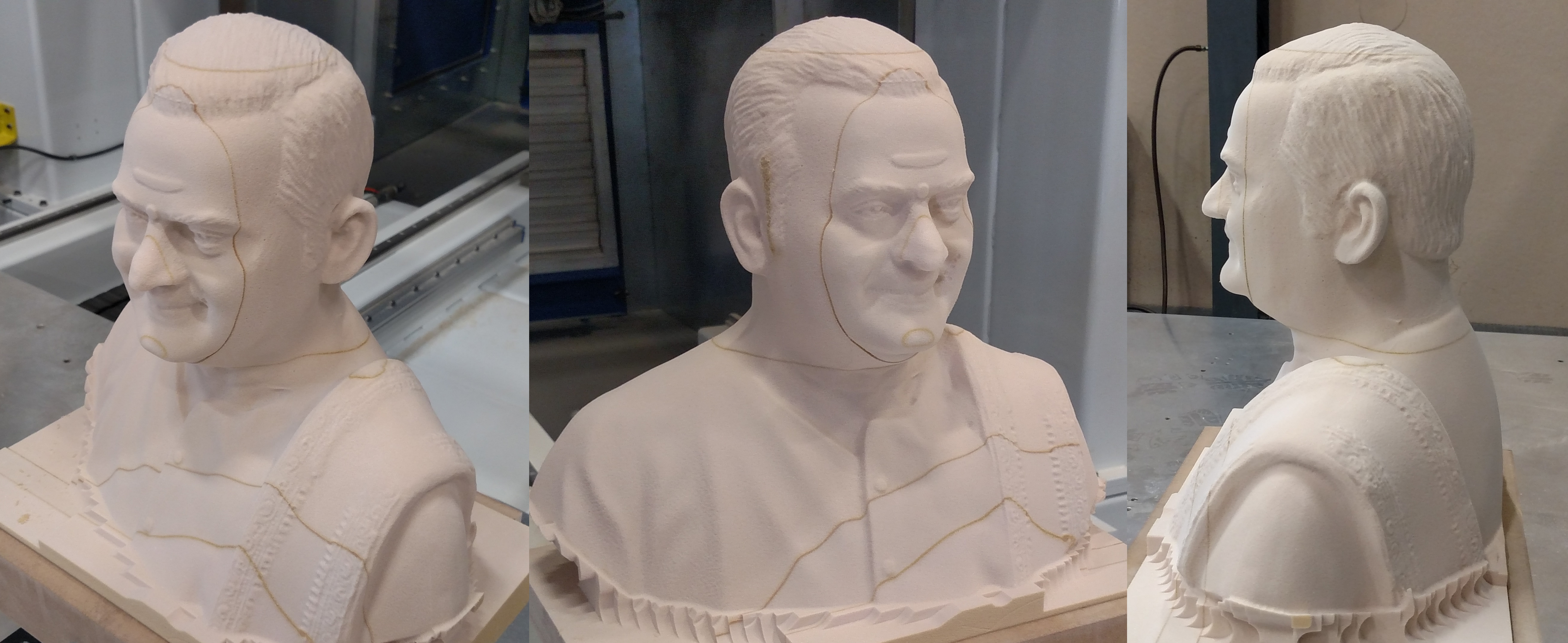 Bust machined on Thermwood 5 Axis Model 90