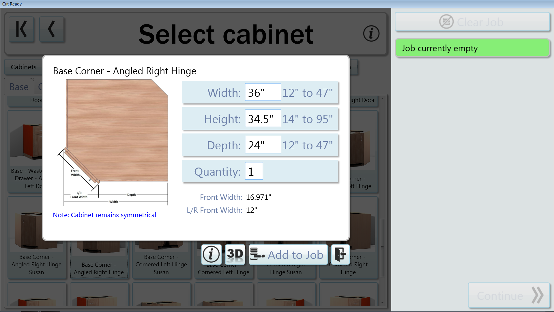 Thermwood Cut Center now adds the ability to resize corner cabinets