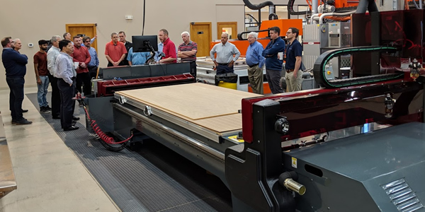 Thermwood personnel, domestic and international dealers also attended a Cut Center demonstration during the 2019 Dealer Conference.