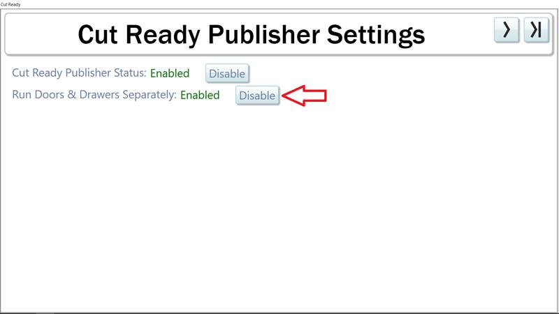 Cut Ready Publisher Settings