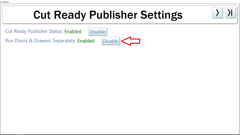 Cut Ready Publisher Settings