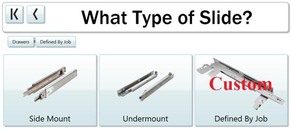 Choose exactly which slide you want for each job.