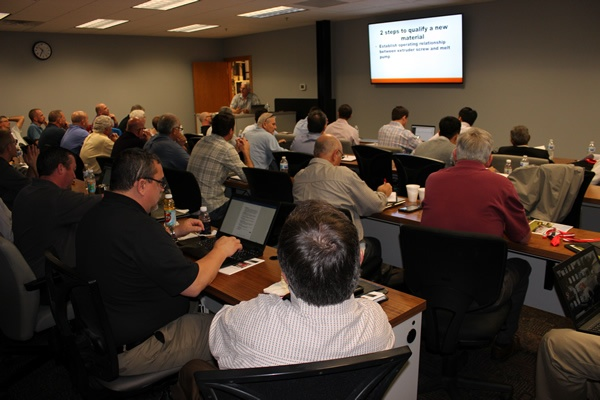 Thermwood Dealers participate in the 2018 Dealer Conference at our headquarters in Dale, IN