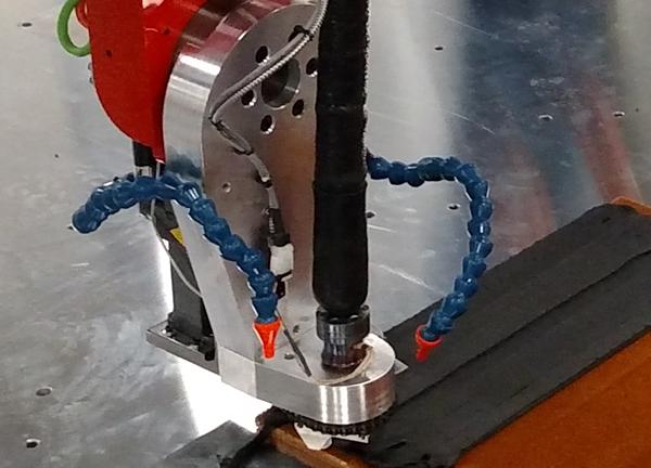 Horizontal slab during additive process