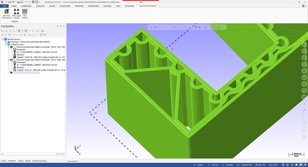 Design interior walls as part of a CAD part design, and have LSAM Print3D automatically recognize these as single bead interior support walls
