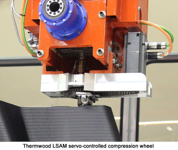 Thermwood LSAM Servo-Controlled Compression Wheel