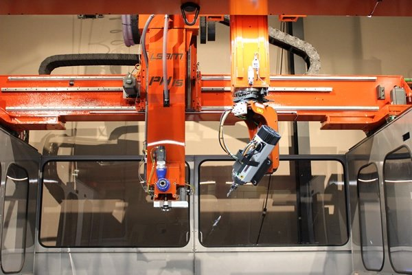 3D Print and Trim on the Same LSAM Machine