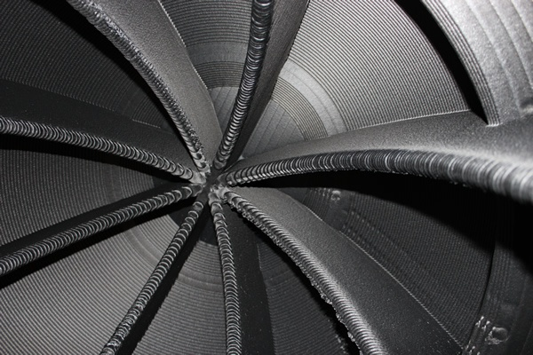 Close-up inside part