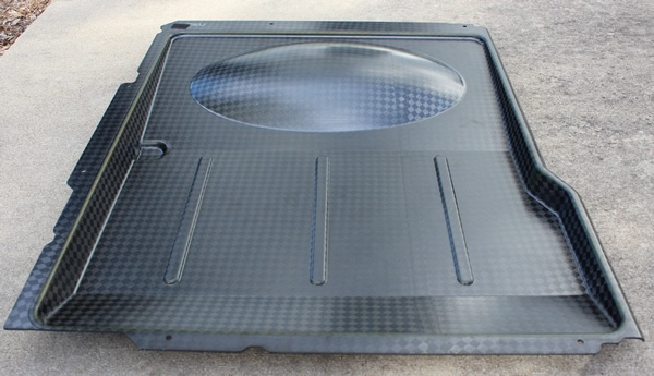 Final Part from mold (oil drip pan for a Chinook Helicopter)