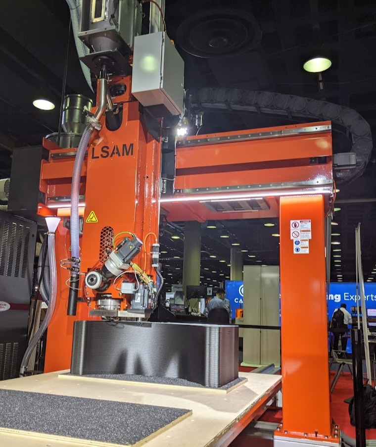 THERMWOOD LSAM Additive Printer 510 will be LIVE Printing High Temp Autoclave Aerospace Tooling at CAMX 2021!