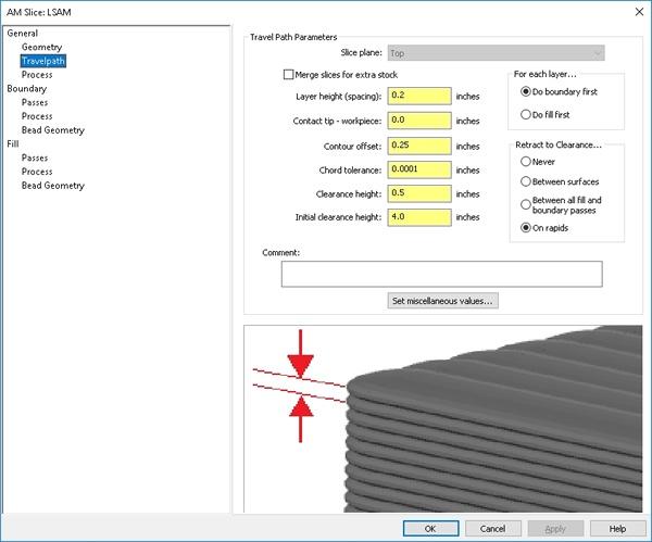 LSAM Print3D Slicing Controls