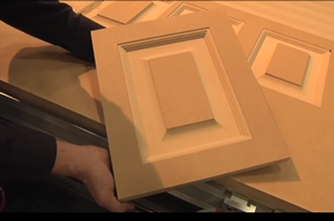 Thermwood Cut Center - MDF Doors made with standard profile tooling with corner cleanup