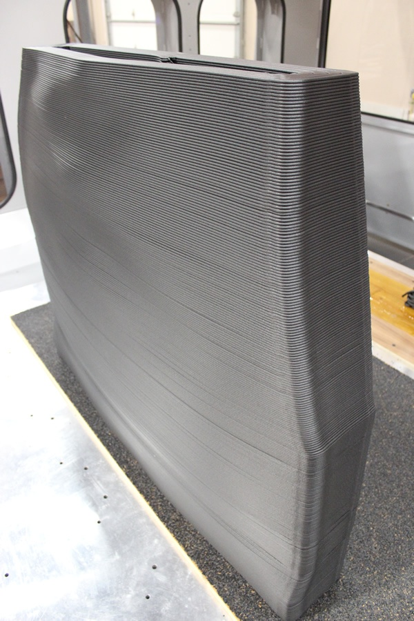 Thermwood LSAM Tall Vertical Structure Printing