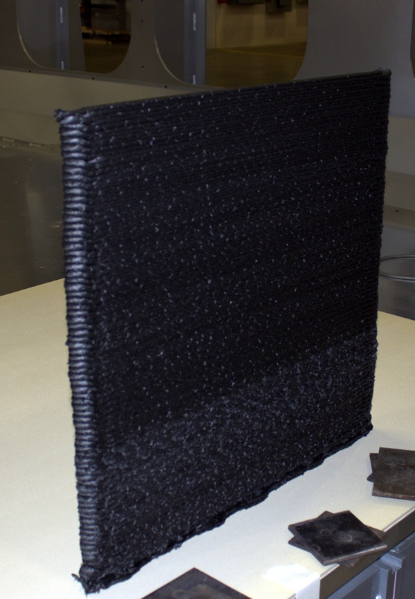 Vertical wall after additive process