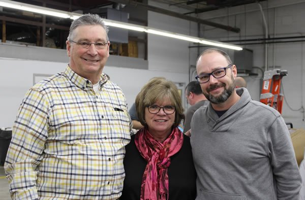 Rich and his wife Debbie with Vice President of Marketing, Jason Susnjara.